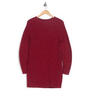 NWT Burberry Cashmere Blend Red Sweater Dress
